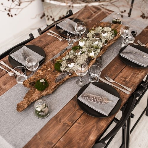 Table Runners - Stonewashed Linen