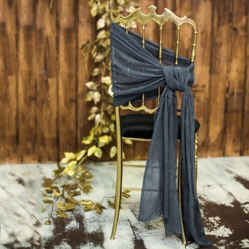 Chair Tie Back Sash - Cheesecloth